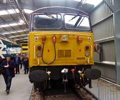 56049 at Crewe Diesel Depot Open Day 2019 (train_photos) Tags: 56049 crewe depotopenday class56 colasrail