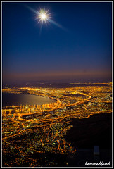 Full Moon over Cape Town (hammadjaved) Tags: travel hammadjaved maddy southafrica capetown canon1100d treking tabletopmountain moon longexposure pakistan