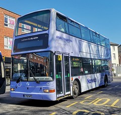 First Norwich 32205 is on Castle Meadow while on 13 to Attleborough. - LT52 WTL - 1st April 2019 (Aaron Rhys Knight) Tags: firsteasterncounties firstnorwich 32205 lt52wtl 2019 castlemeadow norwich norfolk first plaxtonpresident volvob7tl