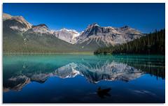 Emerald Lake Reflections (.Wadders) Tags: emeraldlake yohonationalpark britishcolumbia canadianrockies canada reflection mountains water