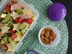 Bento 679 (Sandwood.) Tags: bento lunch lunchbox cooking food meal dish sausagesalad almonds salad vegetables