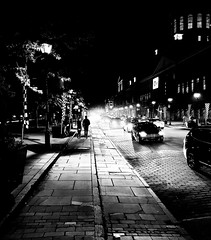 Rue de la Commune Nights Old Port (Montreal) (MassiveKontent) Tags: oldportofmontreal vieuxportdemontréal ruedelacommune street contrast noiretblanc blackwhite blancoynegro montreal noir silhourette bw city monochrome urban blackandwhite streetphoto montréal quebec canada streetphotography bwphotography streetshot android absoluteblackandwhite mono road cars night nightshot cityatnight streetlights