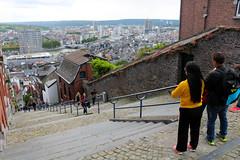 Montagne de Bueren (Liège 2019) (LiveFromLiege) Tags: liège luik wallonie belgique architecture liege lüttich liegi lieja belgium europe city visitezliège visitliege urban belgien belgie belgio リエージュ льеж montagne de bueren montagnedebueren coteaux