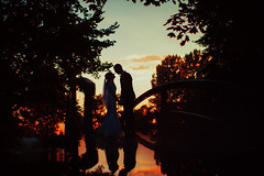 Love (foxphotopl) Tags: wedding weddingphoto couple love emotive mirror sunset evening beautiful nature bride groom kiss