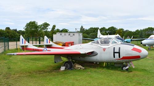 de Havilland DH.100 Vampire T.11 c/n 15018 United Kingdom Air Force serial XJ772 code H