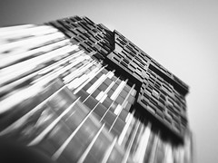 P4210134-2048 (alowlandr) Tags: amsterdam northholland netherlands lensbaby sol22 office architecture monochrome zuidas city cityscape business modern building glass tower window buildingexterior sky