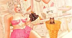 080. Naughty cat and snack. (亗. к ᴀ ɴ ᴀ . 亗 (I'm Japanese)) Tags: secondlife sl snapshot ss secondlifefashion secondlifeblog secondlifefurniture fashion furniture fashionblog gacha event events new froufrou thearcadegacha insomniaangel disorderly s0ng doe vincue mossmink phedora randommatter halfdeer dustbunny セカンドライフ セカンドライフブログ セカンドライフファッション セカンドライフ家具 デコレーション decoration deco ガチャ イベント kawaii
