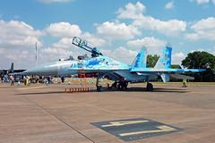71 Blue  Sukhoi Su-27UBM  Ukraine Air Force (Keith Wignall) Tags: fairford ffd riat sukhoi su27 su27ubm ukraineairforce