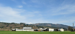 Farm (D70) Tags: alger washington unitedstates twin sisters mountain truck tractor trailer builings barn sheds outbuildings