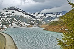 Emosson dam (somabiswas) Tags: emosson dam lake valais switzerland suisse landscape snow mountains