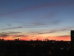 Last night's sky was ready to welcome Peggy (Trinimusic2008 -blessings) Tags: trinimusic2008 judymeikle nature june 2019 spring toronto to ontario canada wethenorth nbafinals raptors viewfromourcondobuilding iphone sunset