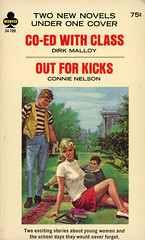 Midwood Books 34-709 - Dirk Malloy - Co-Ed with Class / Connie Nelson - Out for Kicks (swallace99) Tags: midwood vintage 60s sleaze paperback paulrader sweatergirl