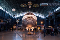 Space Shuttle Discovery, National Air and Space Museum, Steven F. Udvar-Hazy Center, Chantilly, Virginia (Roger Gerbig) Tags: nationalairandspacemuseum smithsonian stevenfudvarhazycenter aviation museum rogergerbig chantilly virginia dulles spaceshuttle discovery nasa