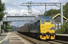 31128 (elr37418) Tags: sunday yicker garswood 31112 yellow blue station wcrc uk liverpool railtour nikon d7100 1z29 ashton makerfield crewe