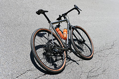 These tires get to singing on the road (44 Bikes) Tags: 44bikes custombicycle huntsman framebuilding titanium prototype