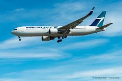 Westjet, C-FOGJ, B763 (Bob from Caledon) Tags: b767300er cfogj cyyz pearsoninternationalairport torontopearsoninternationalairport westjet aeroplanes aircraft airplanes arrivals runway05