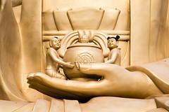 In Buddha's Hand (GlobalGoebel) Tags: canonef24105mmf4lisusm 24105mm canoneos5dmarkiii bomnunsa temple buddhist buddhism korea southkorea korean closeup statue mt mount sanbangsan jeju island jejudo jejuisland hand gold golden buddha bomunsa travel