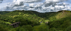 viaduct pano (Phil-Gregory) Tags: cressbrookdale2019 monsal dale nikon d7200 sigma18250macro viaduct clouds cloudscape peakdistrict derbyshire sky light green scenicsnotjustlandscapes landscapes landscapephotography ngc england