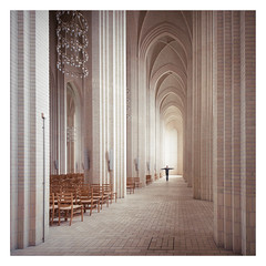 Human Cross (Vesa Pihanurmi) Tags: church architecture copenhagen denmark interior character bricks gothic aisle figure expressionism grundtvigskirke brickexpressionism