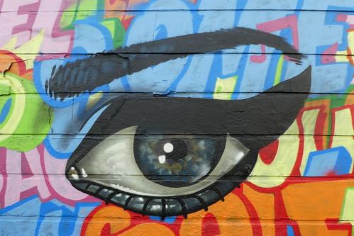 Amara Por Dios + Captain Kris graffiti, Camden