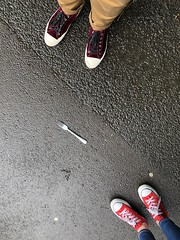 Fork in the Road (Miss Emma Gibbs) Tags: cutlery fork feet shoes road path sneakers trainers converse cons