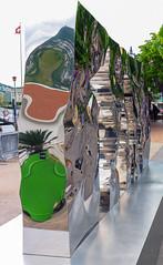 Mirroring Sculpture (Bephep2010) Tags: 2019 7markiii alpha frühling ilce7m3 lagodilugano lakelugano luganersee lugano reflektion sel24105g schweiz skulptur sony spiegelung switzerland tessin ticino ufer reflection sculpture shore spring ⍺7iii kantontessin