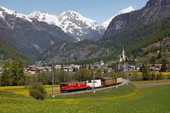 RhB 706, Zernez (diesellokguru) Tags: rhb rhätischebahn ge66ii schmalspur schweiz zernez oberengadin engadin güterzug náklad vlak uzkorozchodná graubünden