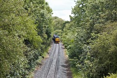 There's a train in there somewhere... (TimboM) Tags: branchlinesociety bls railtour charter middlewichbranch midcheshireline davenham whatcroft branchline 1z28 thesundayyicker 31128 class31 class313 class37 class376 37668 westcoastrailways charybdis nemesisrail
