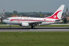 Tunis Air / B736 / TS-IOP / EBBR 25L (_Wouter Cooremans) Tags: ebbr bru brusselsairport zaventem spotting spotter avgeek aviation airplanespotting tunis air b736 tsiop 25l tunisair retro
