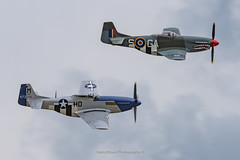 P-51 Mustang Duo at Daks over Duxford (Mark_Aviation) Tags: p51 mustang duo daks over duxford p51d the shark gshwn miss helen gbixl performing top cover iwm prior escorting dakotas normandy drop dc3 c47 imperial war museum wwii ww2 military prop propeller transport aircraft airplane airport aviation aerospace airshow