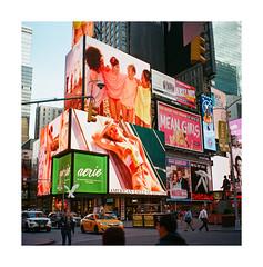 FILM - Mean Girls (fishyfish_arcade) Tags: 6x6 analogphotography ektar filmphotography filmisnotdead foldingcamera istillshootfilm kodak newyork zeissmessikonta52416 analogcamera film ilford mediumformat timessquare streetphotography