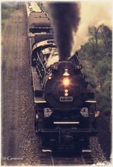 759 Coal Burner  (FILM) (* Gemini-6 * (on&off)) Tags: locomotive engine train railroad coal steam film vintage scanned railroadtracks