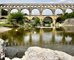 Provence Pont du Gard (isoldenowak) Tags: provence france pont du gard pontdugard viaduct viadukt waterreflection