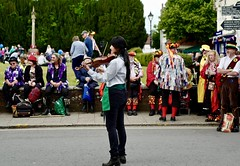 OnTheFiddle (Hodd1350) Tags: wimborne wimborneminster dorset morrisdancers violinist playing people instrument colours wimbornefolkfestival leicaq leica
