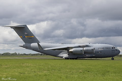 USAF C-17A 10-0214 (birrlad) Tags: shannon snn international airport ireland aircraft aviation airplane airplanes usaf airforce reach boeing c17 c17a globemaster iii 100214 taxi taxiway takeoff departing departure runway charleston