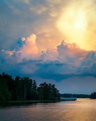 Storm on the Sea (Mikael Neiberg) Tags: storm clouds colorful naturesbeauty likeapainting finnishnature landscape nature sky goldenhour sunset nikond700 tamronsp70300mmf456divcusd