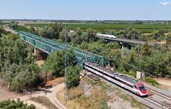 LAV vs Convencional (VIII) (lagunadani) Tags: paisaje sevilla tren ferrocarril automotor caf talgo 130 465 civia cercanias alvia 250 puente viaducto bridge loradelrio drone mavic 2 zoom