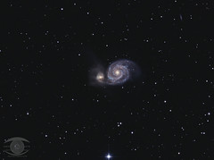 M51 - The Whirlpool Galaxy (Dark Arts Astrophotography) Tags: astrophotography astronomy space sky stars star science galaxy whirlpool m51 night nature nightsky ngc natur