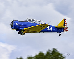 Alan Anders piloting the Heritage Flight Museum North American AT-6F C/N 121-42615 (N706F) during the June 8, 2019 museum Fly Day.  Skagit Regional Airport KBVS, Burlington Washington. (Hawg Wild Photography) Tags: alananders heritageflightmuseum snohomishcountywashington skagitregionalairport kbvs north american at6f cn 12142615 n706f warbird trainer terrygreen hawg wild photography nikon d850 sigma 150600mm contemporary
