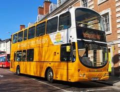 Sanders Coaches 104 is waiting at traffic lights on Castle Meadow while on route X40 to Sheringham. - LJ53 NHP - 1st April 2019 (Aaron Rhys Knight) Tags: sanderscoaches 104 lj53nhp 2019 castlemeadow norwich norfolk wrightpulsargemini dafdb250lf