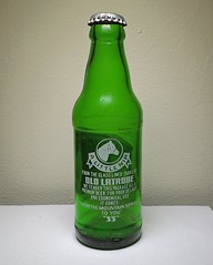 1969 Rolling Rock Beer Bottle (2) (The Glassworks) Tags: 1969 vintage old green glass anchorhockingplant5 connellsville latrobebrewing pony bottle 7ounces rollingrockbeer alcohol antique capped acl appliedcolorlabeling collectible