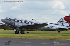 Private NC33611 Douglas DC3 Pan American Clipper Tabitha May at Daks over Duxford 5th June 2019 in preparation for 75th anniversary of D-Day Normandy Landings (bananamanuk79) Tags: daks dakota dc3 douglas daksoverduxford daksovernormandy dday dday75 75thanniversaryofdday vintageplane aircraft flying flight planes flyers 1940s panam panamerican nc336111