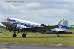 Airveteran DC-3 OH-LCH Finnish Airlines at Daks over Duxford 5 June 2019 for D-Day Normandy 75th anniversary (bananamanuk79) Tags: daks dakota dc3 douglas daksoverduxford daksovernormandy dday dday75 75thanniversaryofdday vintageplane aircraft flying flight planes flyers 1940s airveteran finnishairlines ohlch