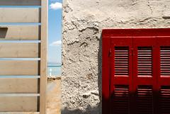 Summer is visble now! (jimiliop) Tags: summer beach window voyeur spying wall sand sky