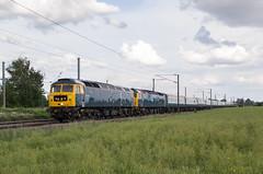 47727 - 5Z49 - Helpston - 09.06.2019 (Tom Watson 70013) Tags: train railway class47 47727 47729 gbrf caledonian br blue helpston mk2 grey 5z49