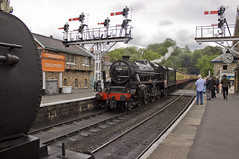 Black 5 no.5428 'Eric Treacy' (alts1985) Tags: black 5 no5428 eric treacy j27 no65894 nymr north yorkshire moors railway steam train grosmont 050619