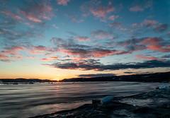 Sundown on Sylvia (Clare Kines Photography) Tags: arctic longexposure nunavut rapids sunset river north scenic sylviegrinellriver canada sylviegrinellpark clouds iqaluit ice