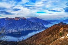 View from San Primo on Como lake. (M-Gianca) Tags: como lago lake sony landscape paesaggi natura italy italia montagna mountain