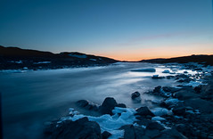 Midnight at the Oasis. (Clare Kines Photography) Tags: arctic longexposure nunavut rapids sunset river north scenic sylviegrinellriver canada sylviegrinellpark iqaluit