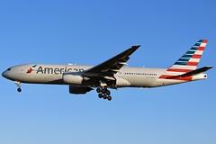 American In The Summer... (Ben Cavers) Tags: americanairlines boeing777223er boeing777200er boeing777 boeing 777223er 777200er 777 americanairlinesboeing777 americanairlines777 n756am triple7 tripleseven londonheathrow londonheathrowairport heathrowairport heathrow lhr egll widebodyjet widebody passengerjet jetliner jet commercialairliner commercialaviation airplane airliner aircraft aviation plane